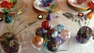 Setting A Colorful Formal Table