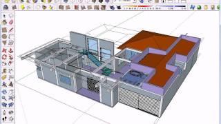 Aula 1 - SketchUp 8 Português - Modelagem Residencial Para Arquitetos