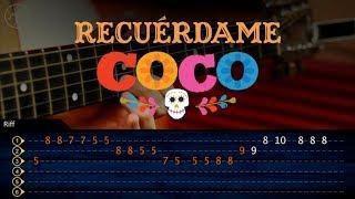 Recuerdame  COCO Guitarra Tutorial | Remember Me Guitar | TABS Christianvib