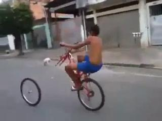 Funny Cycle Accident With Small Kid