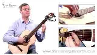 Spanish Romance (Romanza) Classical Guitar Lesson&Tutorial With Brian Keenan PART 2/4
