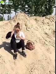 funny beach video