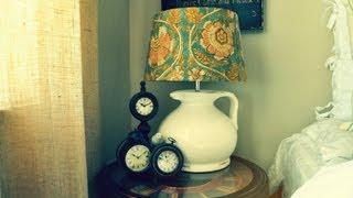 DIY How To Decorate&Arrange Your Nightstand Bedside Table In Your Room Tour