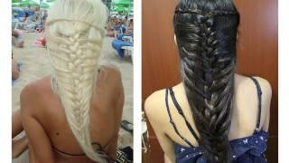 Mermaid French Braid Hairstyle For Medium Long Hair Tutorial