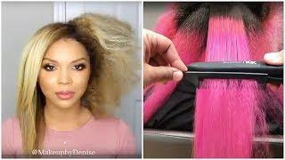 Straight Hairstyles Tutorial - Hair Straightening Before and After