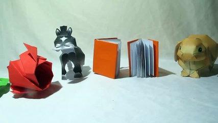 Notebook | how to make origami notebook tutorial | hướng dẫn cách làm notebook bằng giấy