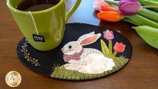 Wooly Mug Mat Series - April | A Shabby Fabrics Tutorial