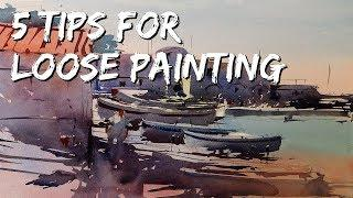 Watercolor Tutorial - How to paint in a loose style - my 5 Tips by Tim Wilmot #43