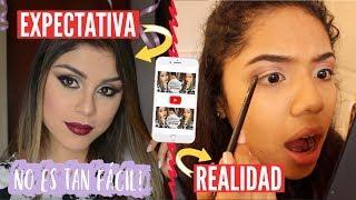 INTENTÉ SEGUIR UN TUTORIAL DE MAQUILLAJE DE PAUTIPS! | Johanna De La Cruz