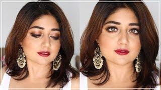 Indian Drugstore Makeup Tutorial | Navratri/Durga Puja Makeup | corallista