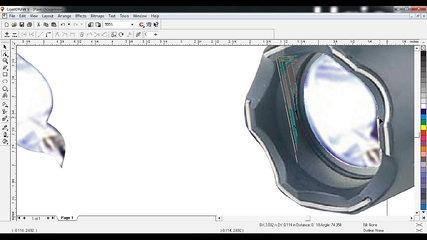 Corel Draw Tutorial 3A - How to add a light effect to a Torch