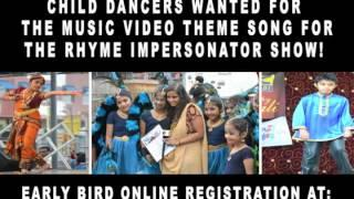 BOLLYWOOD PROMO #1, 04/26/2014 CHILD AUDITIONS FOR MUSIC VIDEO FOR THE RHYME IMPERSONATOR SHOW!