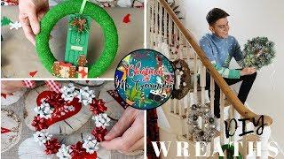 CHRISTMAS WREATH DIYS | BUDGET WREATH IDEAS TUTORIAL | CHRISTMAS WITH MR CARRINGTON
