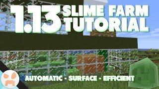 1.13 SLIME FARM TUTORIAL | Automatic, Efficient, Surface, Java & Bedrock Edition