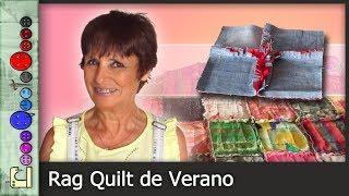 Cómo hacer un Rag Quilt de Verano (Patchwork) [Tutorial]