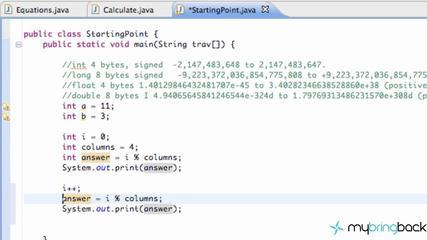 Learn Java Tutorial 1.15- The Modulus Operator