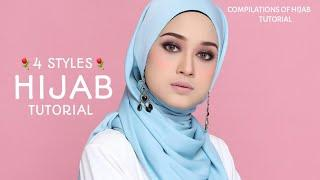 4 STYLES|| FAST & QUICK|| LOOSE STYLE|| HIJAB TUTORIAL|| GORGEOUS !||⚘⚘