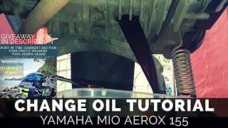 Change Oil Tutorial For The Yamaha Aerox 155 - Plus Giveaways!