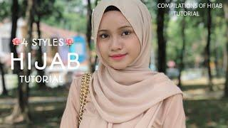 4 STYLES|| LATEST|| HIJAB TUTORIAL ||MOST GEORGES & STUNNING !!||
