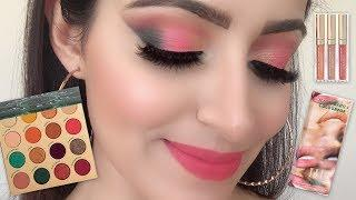 ILUVSARAHII X COLOURPOP COLLECTION REVIEW AND TUTORIAL(HINDI) | Deepti Ghai Sharma