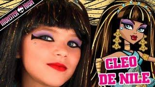 Cleo De Nile Monster High Doll Costume Makeup Tutorial For Halloween