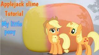 Cara membuat applejack slime tutorial my little pony