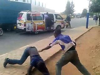 funny street fight in africa