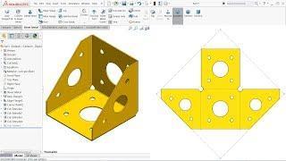 Solidworks sheet metal Tutorial Base flange, Edge Flange and Corner relief