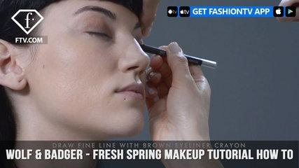 Wolf & Badger - Fresh Spring Makeup Tutorial How To | FashionTV | FTV