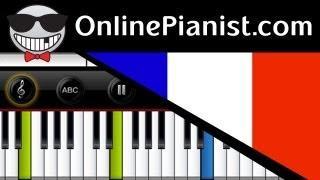 France National Anthem - La Marseillaise - Piano Tutorial&Sheets