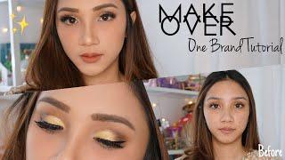 MAKEOVER ONE BRAND TUTORIAL | Simply Glam Look