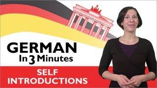 Learn German - German In Three Minutes - How To Introduce Yourself In German