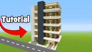 "Minecraft Tutorial: How To Make A Modern Apartment Building ""City Tutorial"""