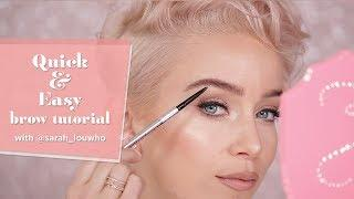 Quick & Easy Brow Tutorial | Precisely My Brow Pencil with @sarah_louwho