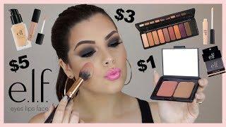 Tutorial de Maquillaje SOLO con Productos ELF $1 $3 ECONÓMICO!