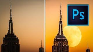 Photoshop Manipulation Tutorial For beginner | Make your First Manipulation Photo - Add the Moon