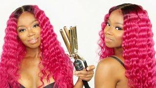 Get Crimped With Me! BlowPop Pink Hair (Color & Style Tutorial)