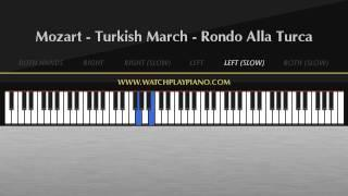 Mozart - Turkish March [Easy Piano Tutorial]