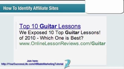 Affiliate Marketing Tutorial 3 | Clickbank | How To Identify Affiliate Sites