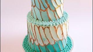 Feather Buttercream Cake Tutorial- Rosie's Dessert Spot