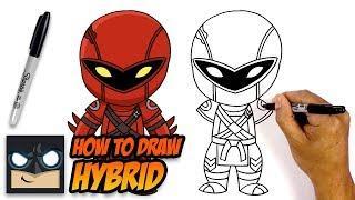 How to Draw Hybrid | Fortnite Season 8 | Step-by-Step Tutorial