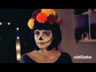 Maquillaje de Catrina para Halloween | Tutorial | Veintitantos