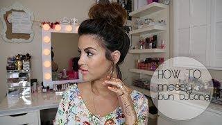 HOW TO: Messy Bun Hair Tutorial