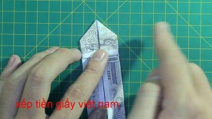 money origami key + heart tutorial 折り紙 | おりがみ