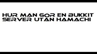 Tutorial: Hur Man Gör En Bukkit Server (Utan Hamachi)