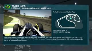 F1 2012 : Lap Tutorial - 20 Brazilian GP (Interlagos, São Paulo)