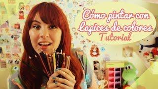 【Cómo pintar con lápices de colores】TUTORIAL ❤ By Piyoasdf