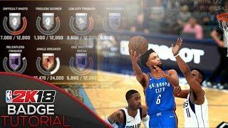 2k18 BADGE TUTORIAL - FASTEST Acrobat, Relentless Finisher, Posterizer Badge