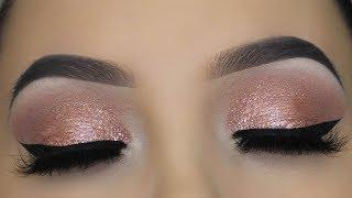 5 MINUTE Pink Champagne Eye Makeup Tutorial