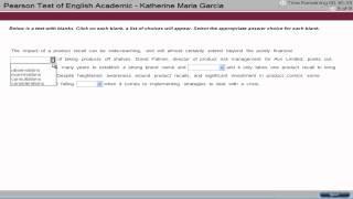 PTE Academic English Test Tutorial - Reading 5